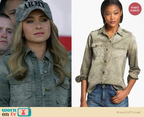 Current/Elliott Perfect Shirt in Camo worn by Hayden Panettiere on Nashville