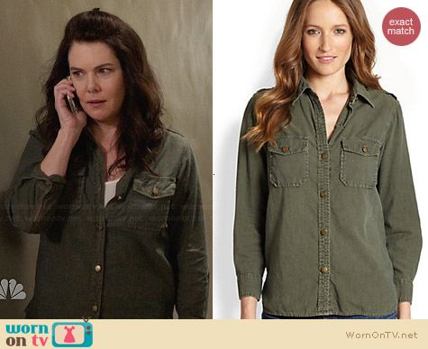 Current/Elliott Perfect Shirt in Army Green worn by Lauren Graham on Parenthood