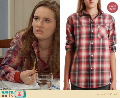 Current/Elliott Prep School Shirt worn by Kaitlyn Dever on Last Man Standing