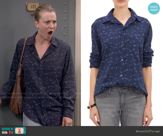 Current/Elliott The Prep School Shirt in Ditsy Print by worn by Kaley Cuoco on The Big Bang Theory