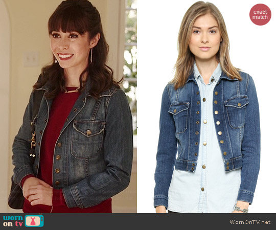 Current/Elliott The Snap Jacket worn by Cristin Milioti on A to Z