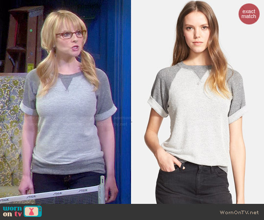 Current Elliott The Athlete Sweatshirt worn by Melissa Rauch on The Big Bang Theory