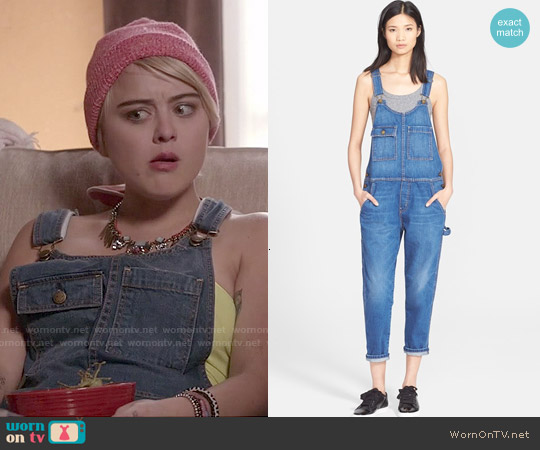 Current Elliott The Carpenter Denim Overalls worn by Jordan Hinson on Kevin from Work