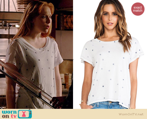 Current/Elliott The Crew Neck Tee in Mini Stars worn by Molly Quinn on Castle