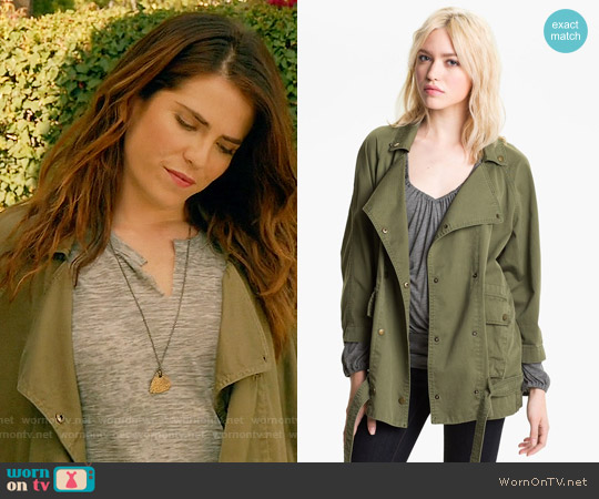 Current Elliott The Infantry Jacket worn by Laurel Castillo on HTGAWM