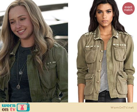 Current/Elliott The Lone Soldier Studded Jacket worn by Hayden Panettiere on Nashville