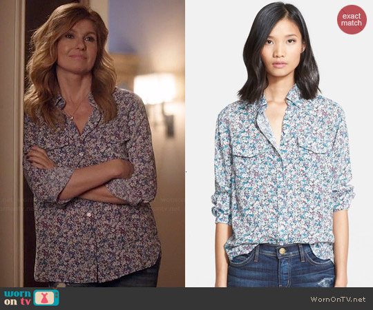 Current/Elliott The Perfect Shirt in Sophia Floral worn by Connie Britton on Nashville