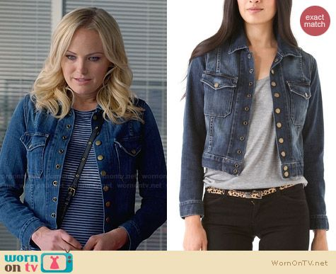 Current/Elliott The Snap Jacket worn by Malin Akerman on Trophy Wife
