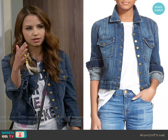 Current/Elliott The Snap Jacket worn by Aimee Carrero on Young & Hungry