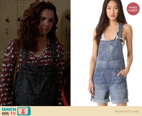 Current/Elliott The Short Overalls worn by Maia Mitchell on The Fosters