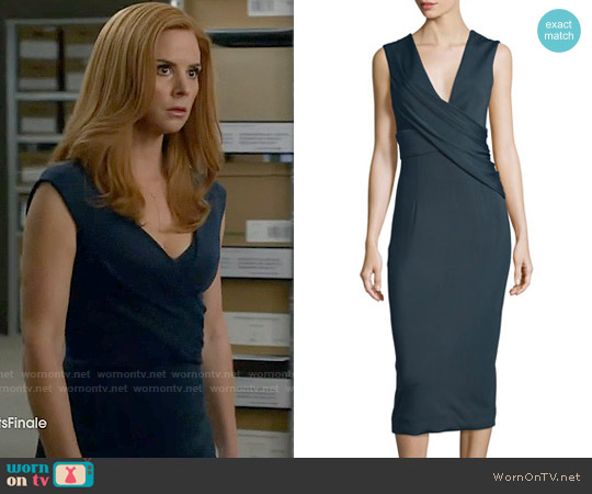 Cushnie et Ochs Ibiza Jasmine Sleeveless Draped Dress worn by Sarah Rafferty on Suits