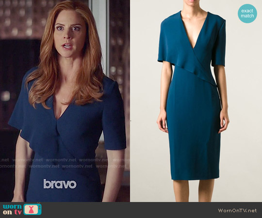 Cushnie et Ochs V-neck Dress worn by Sarah Rafferty on Suits
