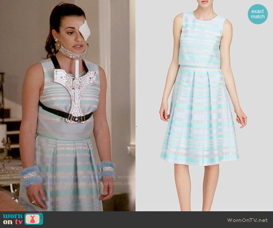 Cynthia Steffe Karolina Striped Popover Dress worn by Lea Michele on Scream Queens