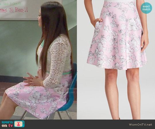 Cynthia Rowley Bonded Flare Skirt worn by Jasmine Kang on IDDI