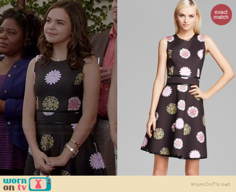 Cynthia Rowley Bonded Party Dress in Medallion worn by Bailee Madison on The Fosters