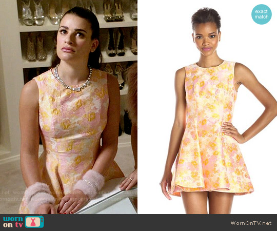 Cynthia Rowley Cherry Blossom Dress worn by Lea Michele on Scream Queens