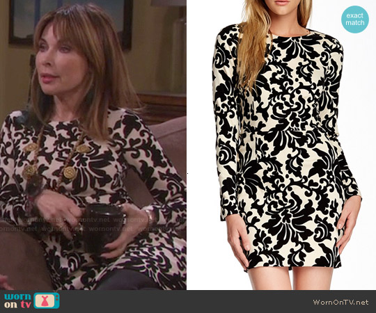 Cynthia Steffe Kit Damask Ponte Dress worn by Lauren Koslow on Days of our Lives