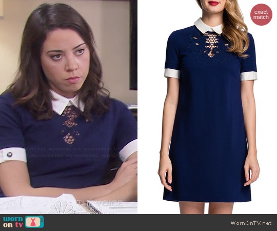 Cynthia Steffe Zariah Dress worn by Aubrey Plaza on Parks & Rec