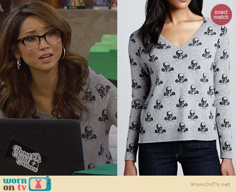 Fashion of Dads: 360 Sweater Skull Sweater worn by Brenda Song