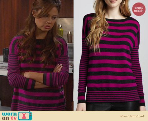 Fashion of Dads: Autumn Cashmere Boxy Mixed Stripe Top worn by Vanessa Lachey