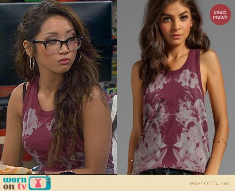 Fashion of Dads: Chaser Isabel Kaleidoscope tank worn by Brenda Song