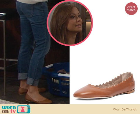 Dads Fashion: Chloe Lauren Ballerina Flats worn by Vanessa Lachey