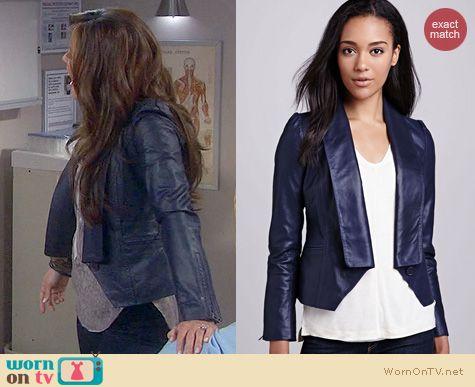 Dads Fashion: Cusp by Neiman Marcus Single Lapel Leather Jacket worn by Vanessa Lachey