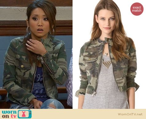 Dads Fashion: Elizabeth & James Wesley Camo Jacket worn by Brenda Song