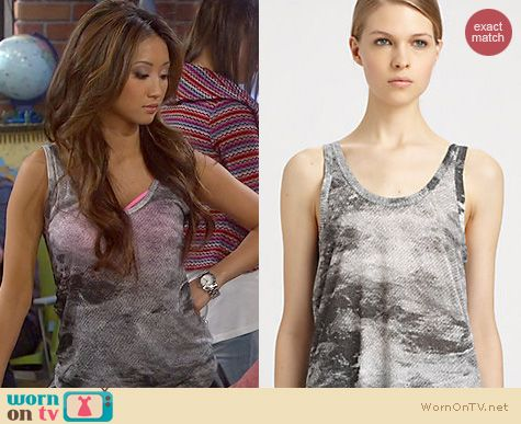 Dads Fashion: Helmut Lang Smudge Tank worn by Brenda Song