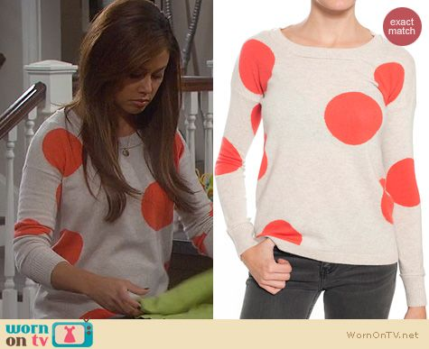 Dads Fashion: Kokun Polka dot Sweater worn by Vanessa Lachey