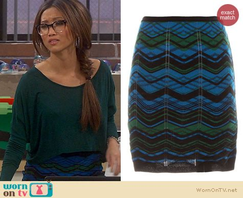 Dads Fashion: M Missoni Bias Plaid Skirt worn by Brenda Song