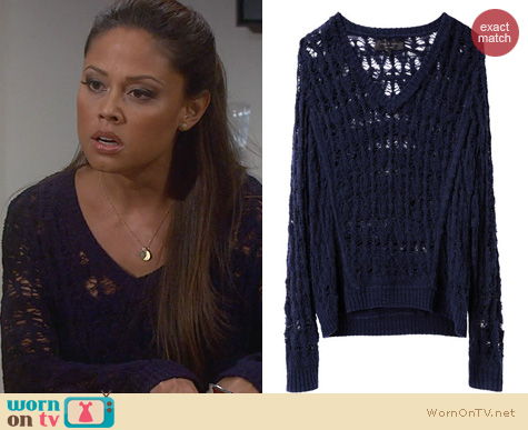 Dads Fashion: Rag & Bone Vicky Sweater worn by Vanessa Lachey