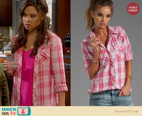 Dads Fashion: Rails Kendra shirt in pink plaid worn by Vanessa Lachey