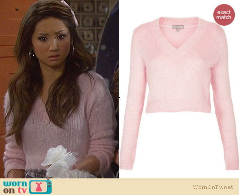 Fashion of Dads: Topshop Crop Fluffy Jumper worn by Brenda Song