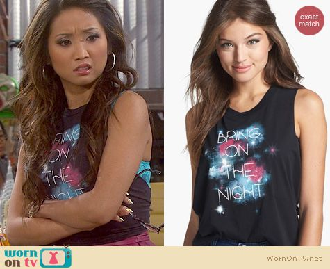 Dads Fashion: Wyldhart Bring On the Freedom Tank worn by Brenda Song