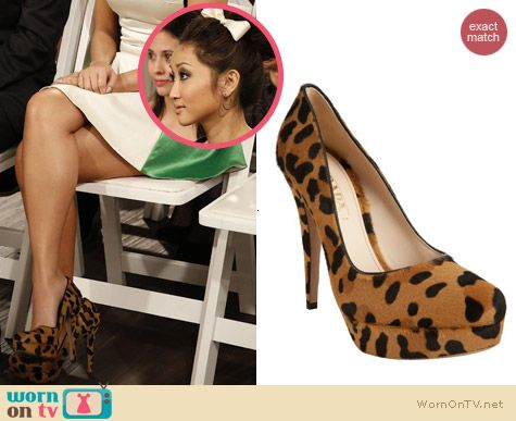 Shoes on Dads: Prada Calf Hair Leopard Platform Pumps worn by Brenda Song
