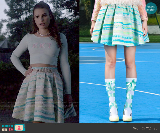 Daizy Shely SS 2015 Skirt worn by Lea Michele on Scream Queens