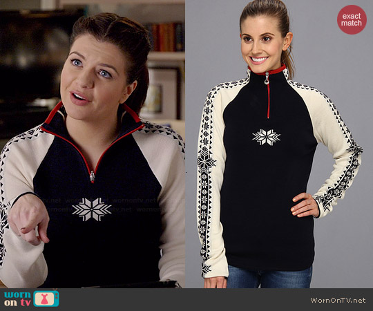 Dale of Norway Geilo Feminine Sweater worn by Casey Wilson on Marry Me
