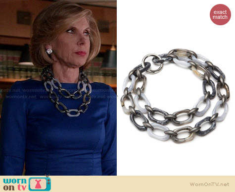 Daniel Lawson for Pono Winter's Dream Necklace worn by Christine Baranski on The Good Wife