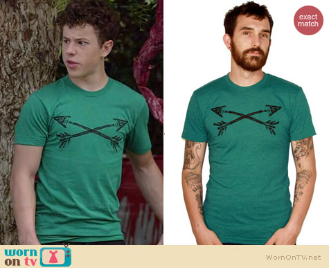 Dark Cycle Clothing Cross Arrows Tee worn by Nolan Gould on Modern Family