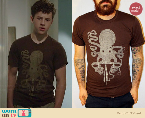 Dark Cycle Clothing Octopus on a Bike Tee worn by Nolan Gould on Modern Family