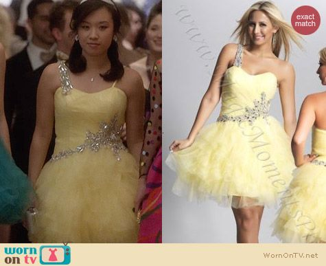 Dave and Johnny Dress Style 8934 worn by Ellen Wong on The Carrie Diaries