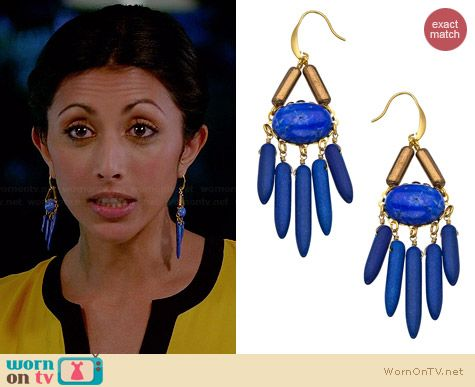 David Aubrey Amelie Spike Earrings worn by Reshma Shetty on Royal Pains