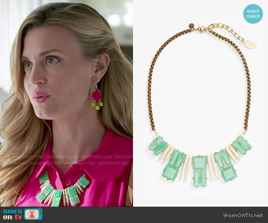 David Aubrey 'Delilah' Spike & Stone Necklace worn by Paige Collins on Royal Pains