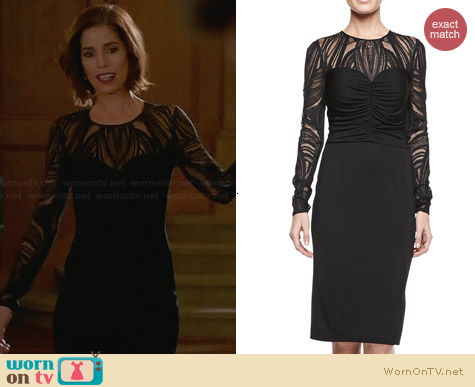 David Meister Deco Lace Jersey Dress worn by Ana Ortiz on Devious Maids