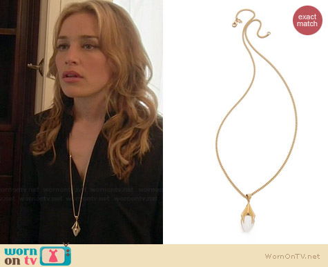 Dean Davidson Talon Pendant Necklace worn by Piper Perabo on Covert Affairs