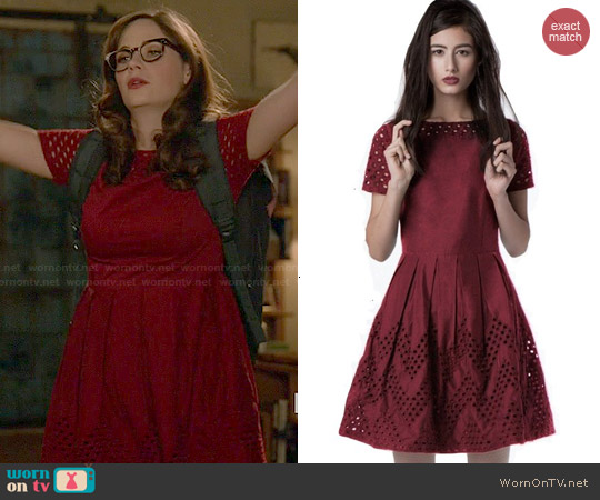 Dear Creatures Piper Berry Dress worn by Zooey Deschanel on New Girl