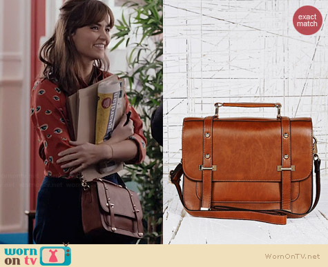 Deena & Ozzy Satchel in Tan worn by Jenna Coleman on Doctor Who