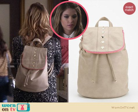 Deena & Ozzy Stud Stripe Backpack worn by Ashley Benson on PLL