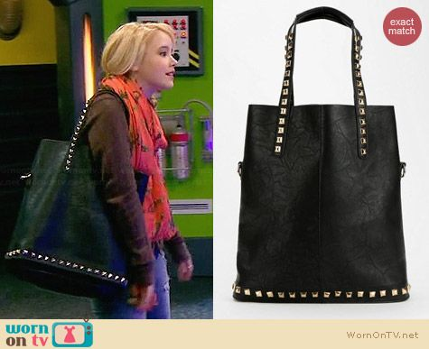 Deena & Ozzy Stud-Trim Tote Bag worn by Taylor Sprietler on Melissa & Joey